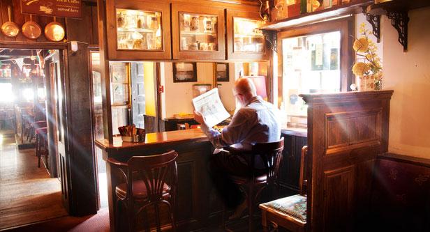 Enjoying a pint in Limerick Pub Ireland